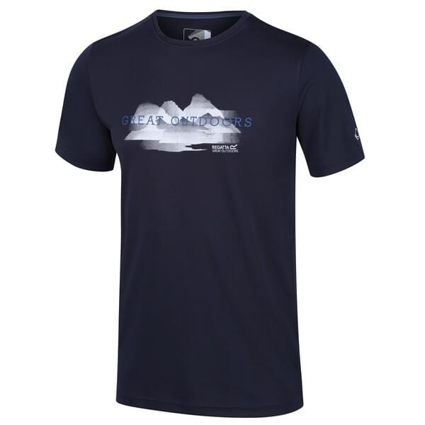 Regatta Fingal V T-Shirt Heren Blauw