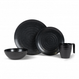 Kampa Ebony Cobble 16-delige servies set