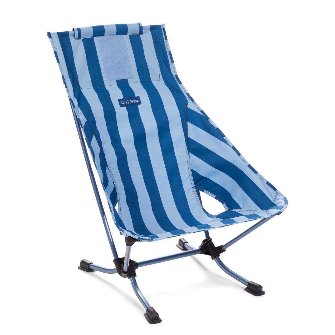 Helinox Beach Chair Stripe Lichtgewicht Stoel - Blauw