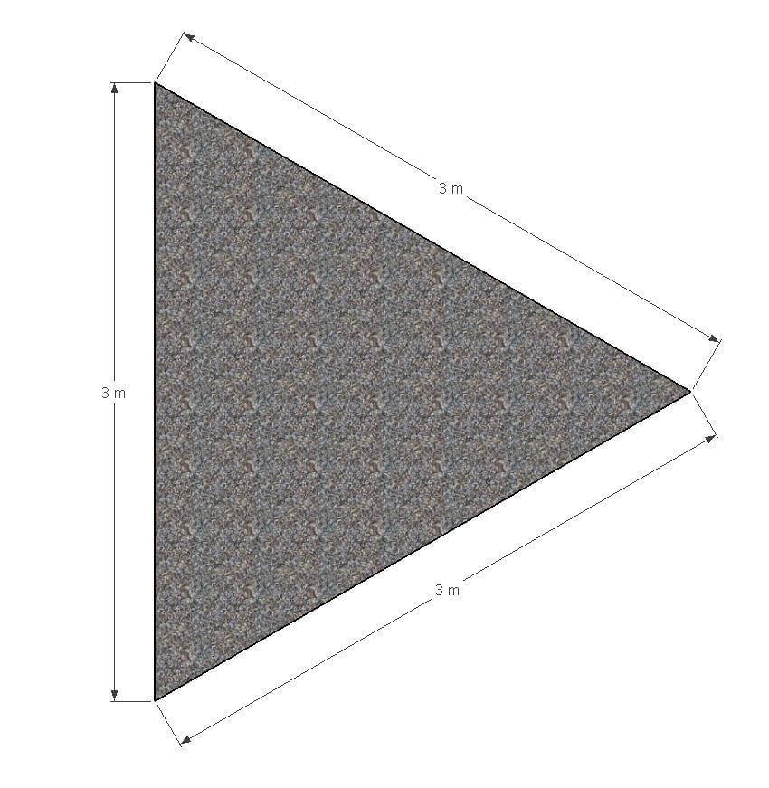 ML Schaduwdoek Driehoek 3 x 3 x 3 m - Grijs