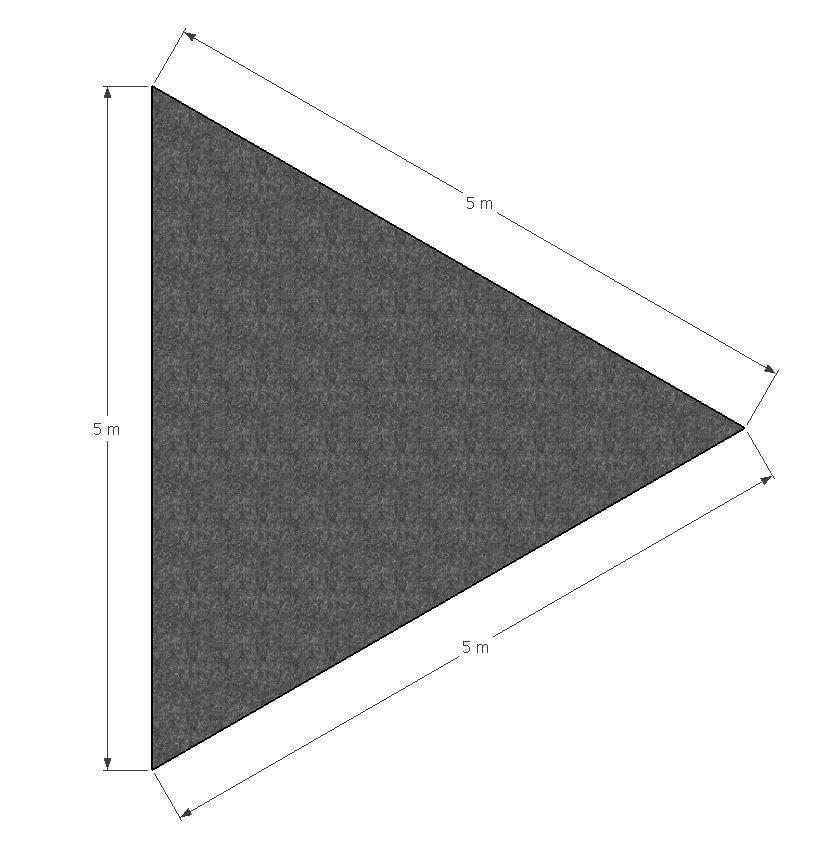 ML Schaduwdoek Driehoek 5 x 5 x 5 m