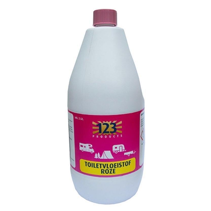 123 Spoelvloeistof Roze 2 Liter