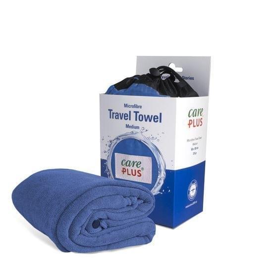 Care Plus Travel Towel Medium - Blauw