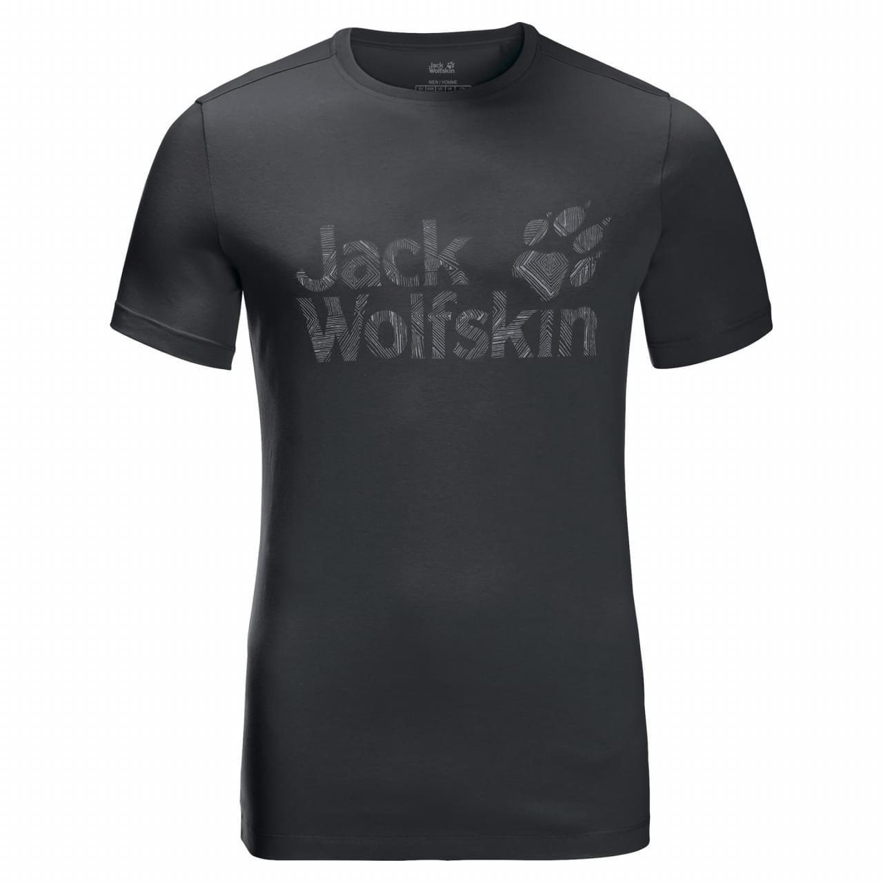 Jack Wolfskin Brand Logo T-shirt Heren Grijs