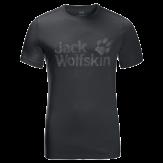 Jack Wolfskin Brand Logo T-Shirt Heren Zwart