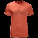 Jack Wolfskin Brand Logo T-Shirt Heren Oranje