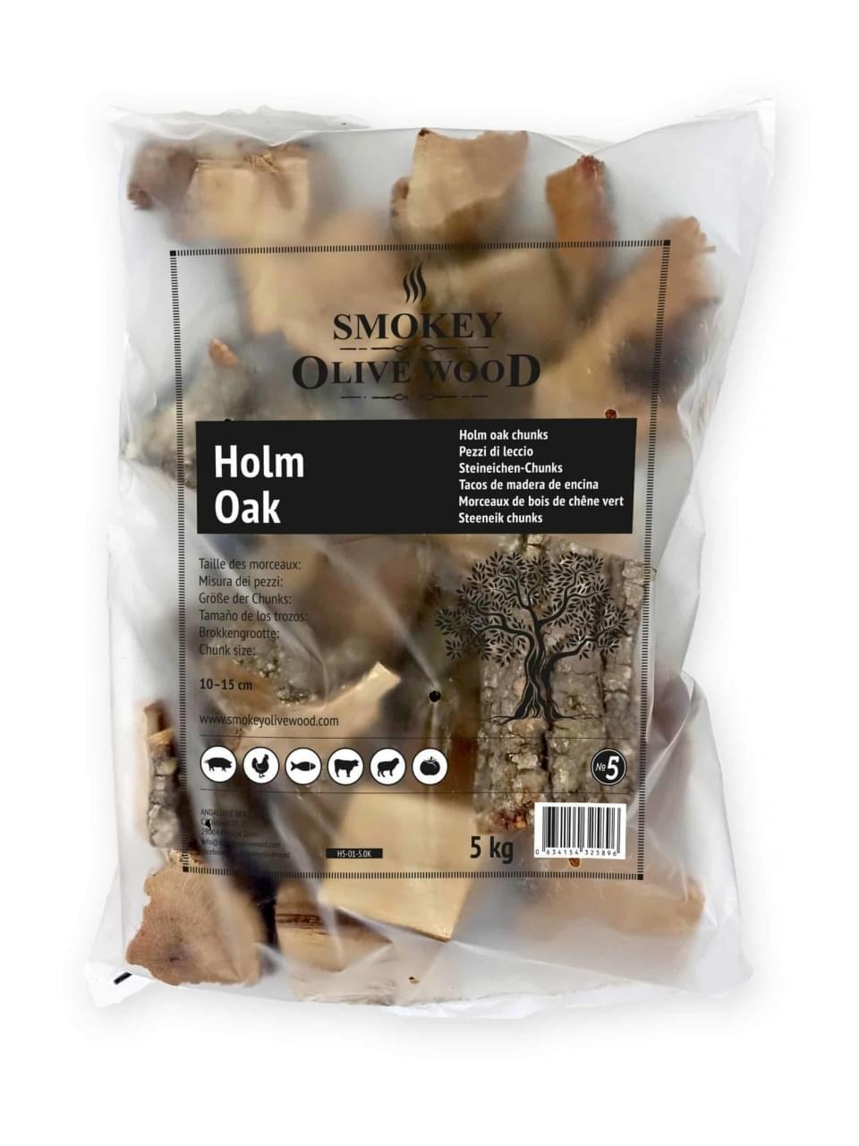 Smokey Olive Wood Chunks No.5 Steeneik Hout