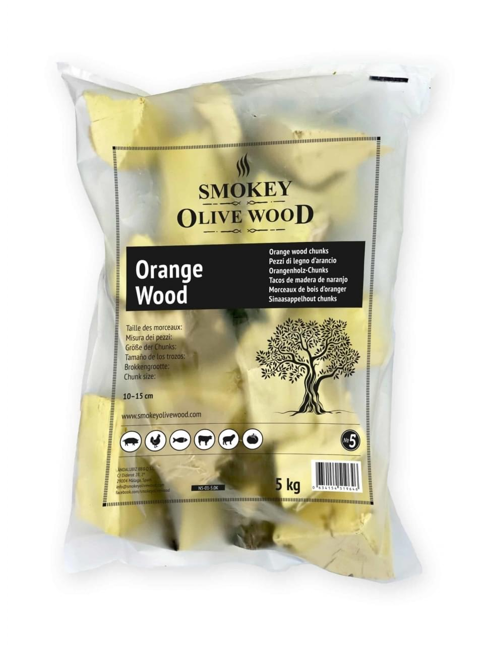 Smokey Olive Wood Chunks No.5 Sinaasappelhout