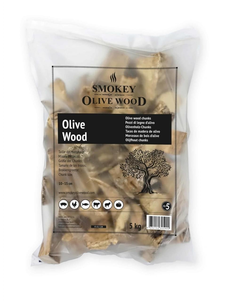 Smokey Olive Wood Chunks No.5 Olijfhout