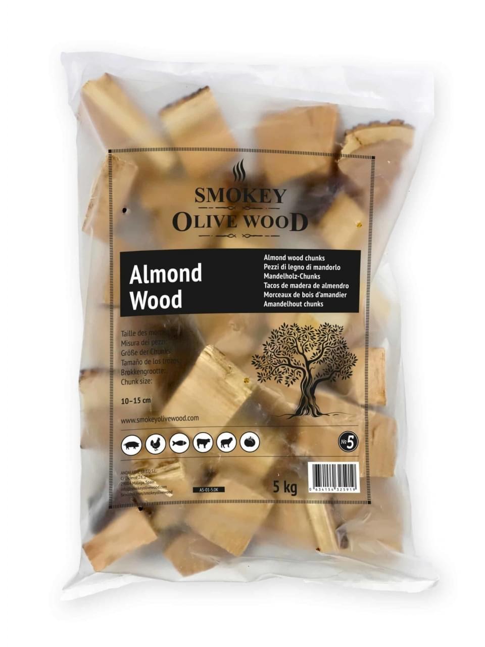 Smokey Olive Wood Chunks No.5 Amandelhout