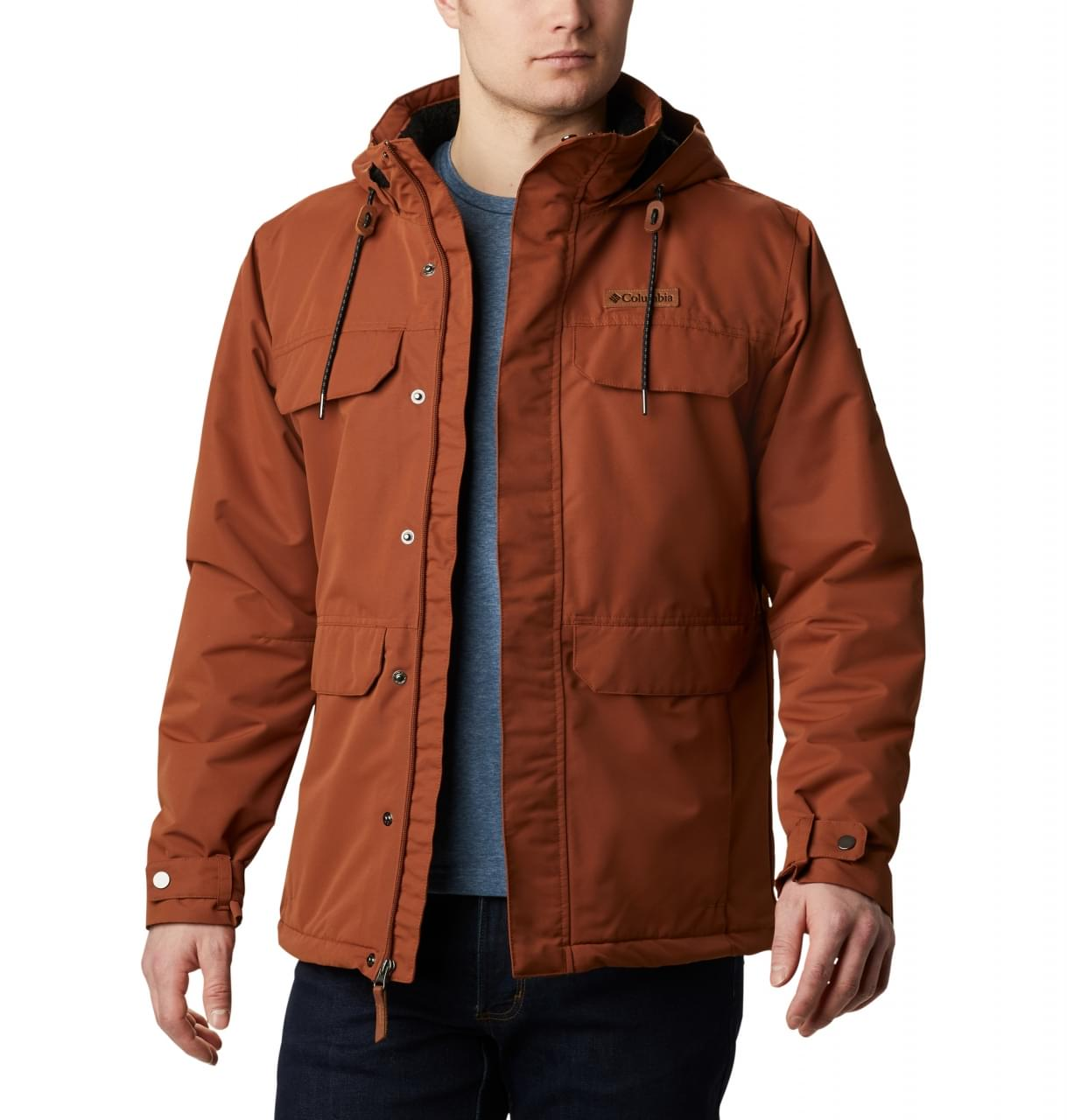 Columbia South Canyon Lined Winterjas Heren Bruin
