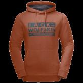 Jack Wolfskin Brand Hoody Heren Bruin