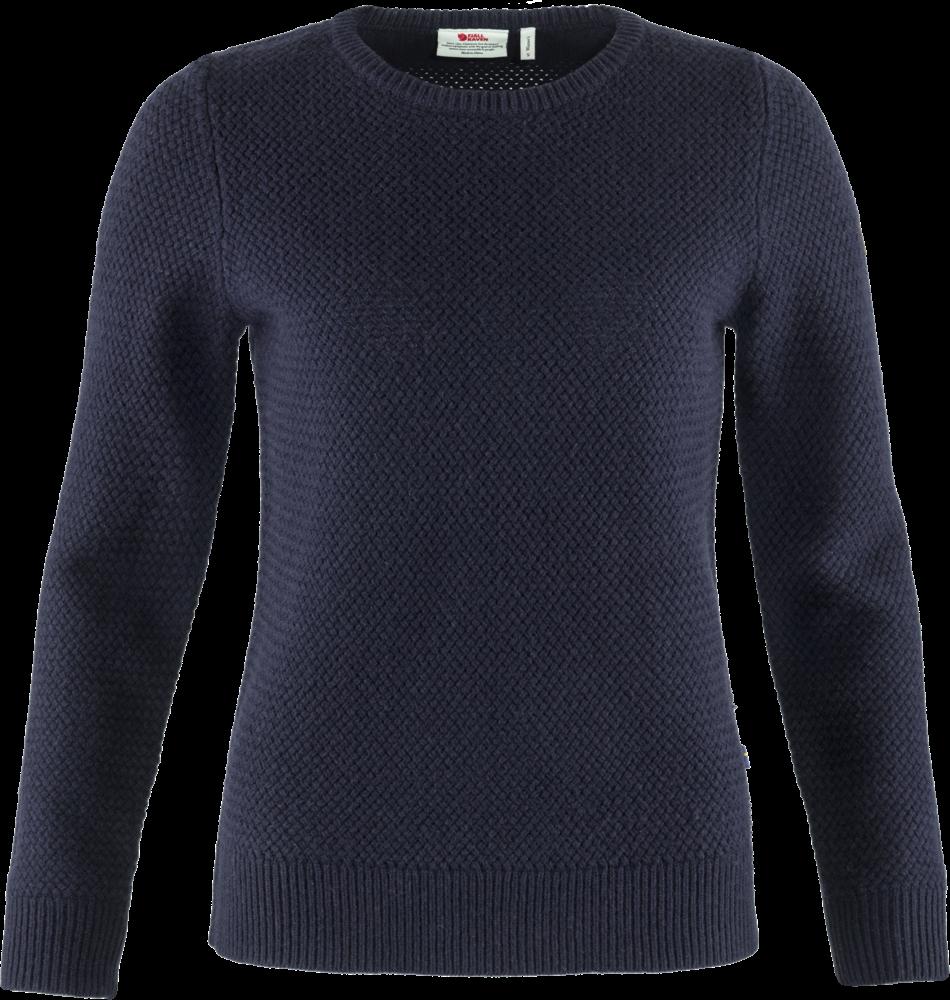 Fjallraven Övik Structure Sweater Dames Blauw