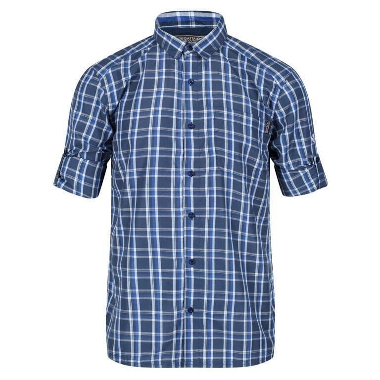 Regatta Mindano III Long Sleeve Blouse Heren Blauw