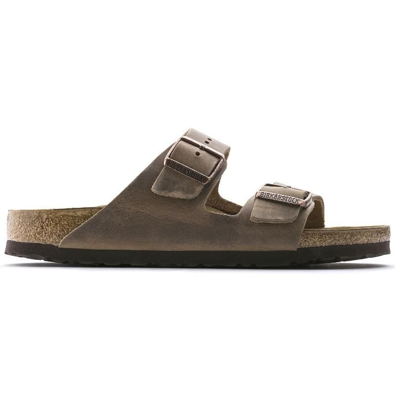 Birkenstock Arizona Geolied Nubuck Regular Slipper Heren Bruin