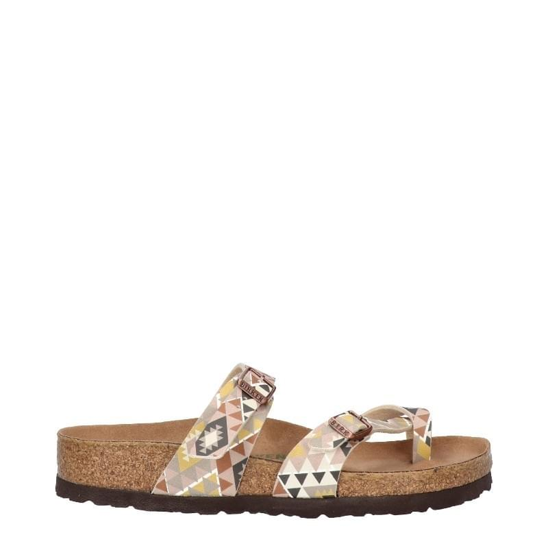 Birkenstock Mayari BF Ethno Rhombs Vegan Regular Slipper Dames Multicolor