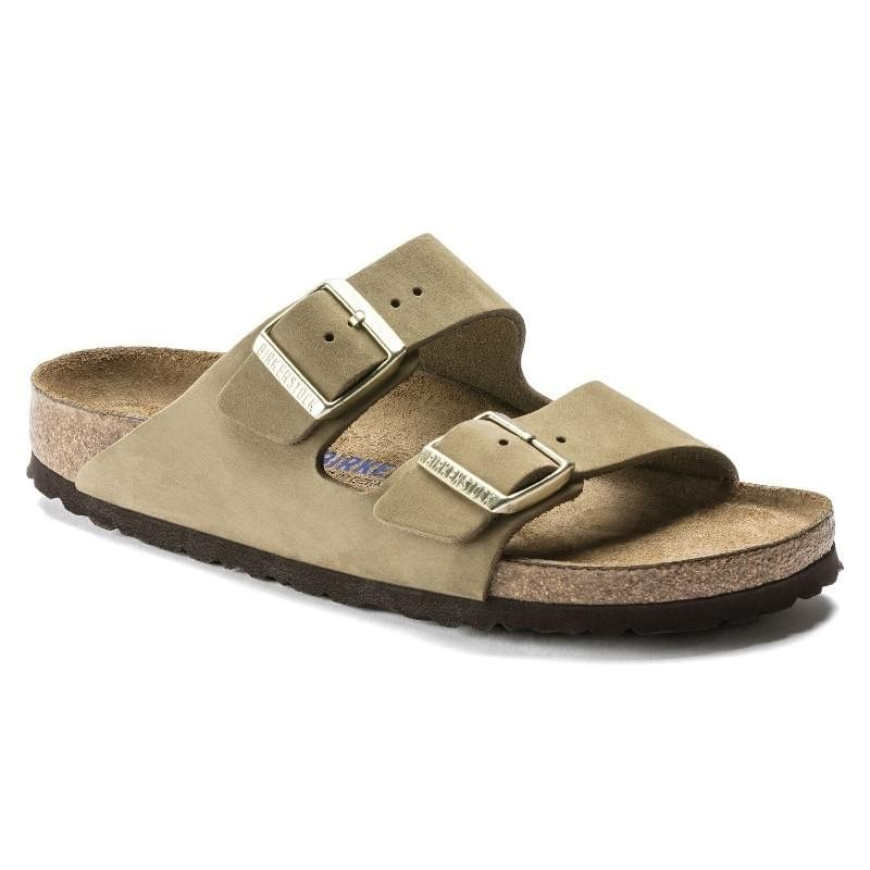 Birkenstock Arizona SFB Nubuck Narrow Slipper Dames Beige