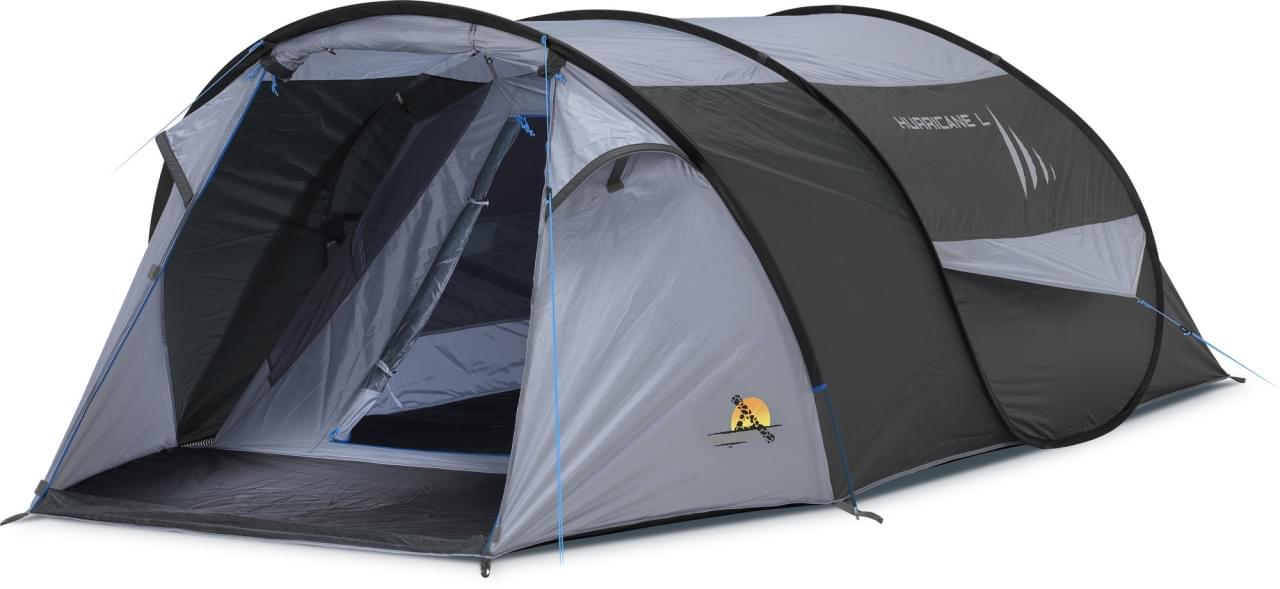 Safarica Hurricane L Pop Up - 3 Persoons Tent Grijs