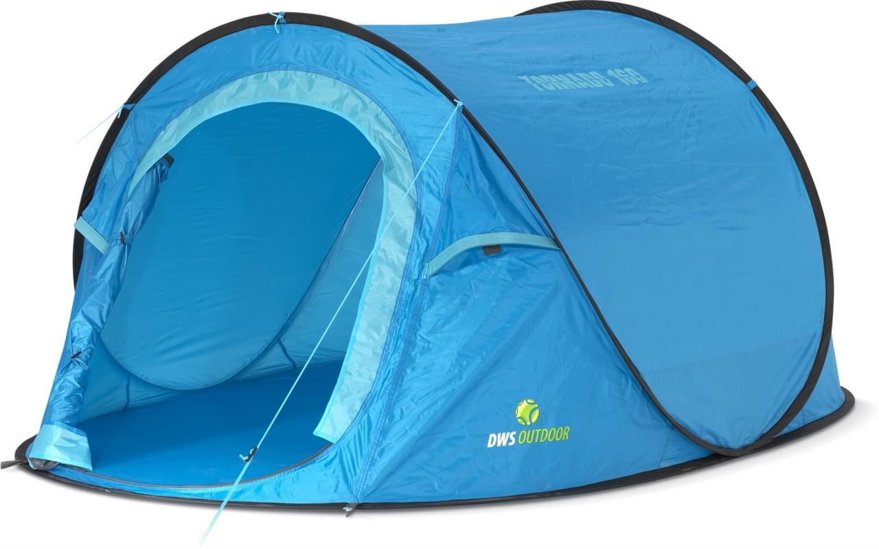 DWS Tornado 160 - 2 Persoons Tent Blauw