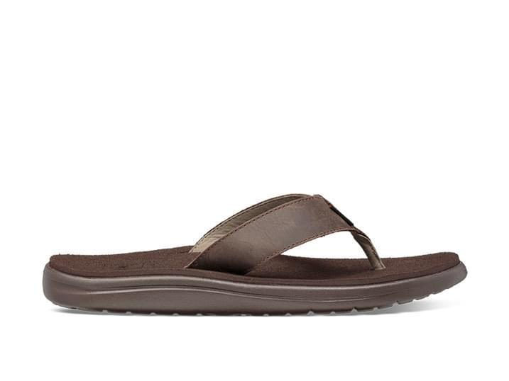 Teva Voya Flip Leather Slipper Heren Bruin