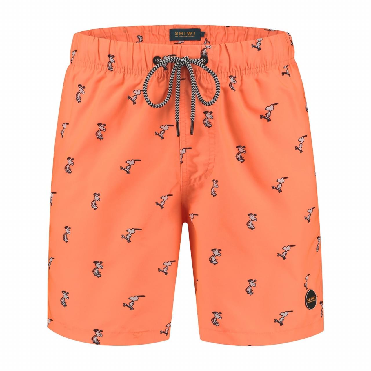 SHIWI Snoopy Happy Skater Zwembroek Heren Oranje