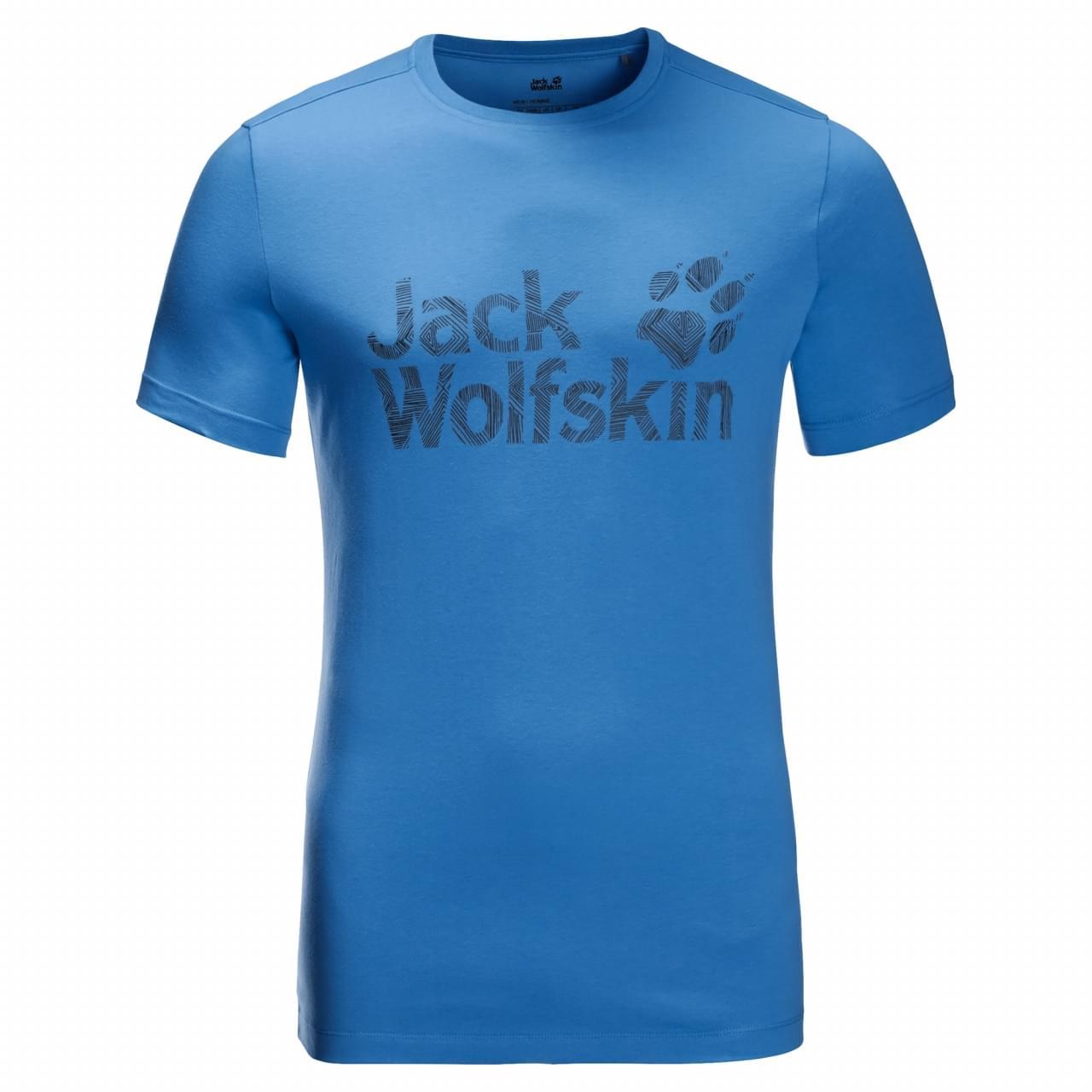 Jack Wolfskin Brand Logo T-shirt Heren Blauw