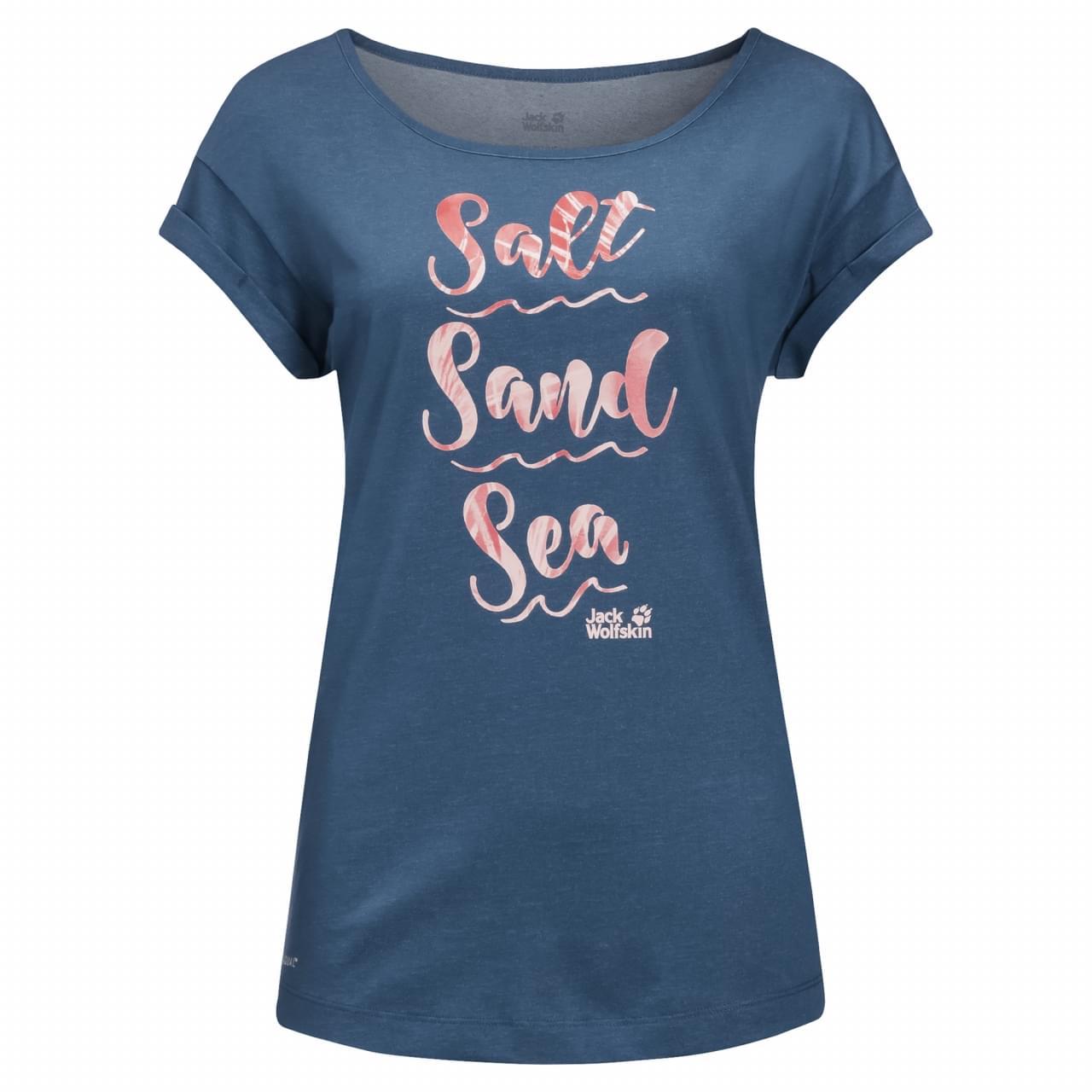Jack Wolfskin Salt Sand Sea T-shirt Dames Blauw