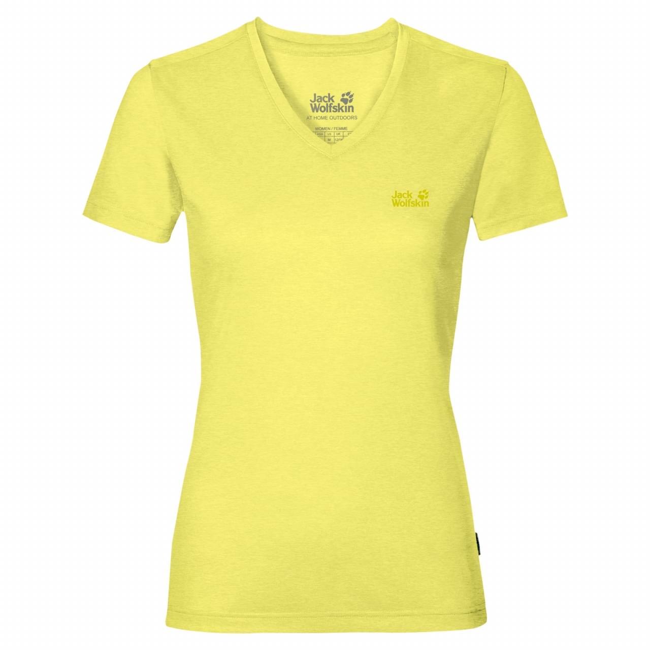 Jack Wolfskin Crosstrail T-shirt Dames Geel