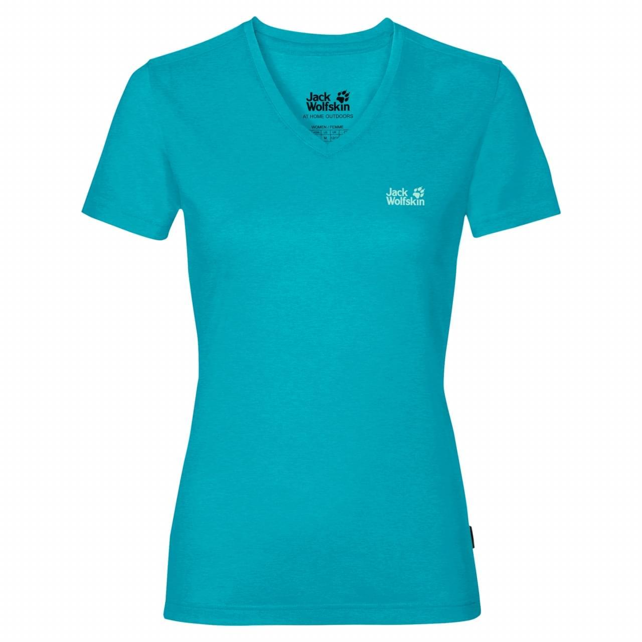 Jack Wolfskin Crosstrail T-shirt Dames Blauw