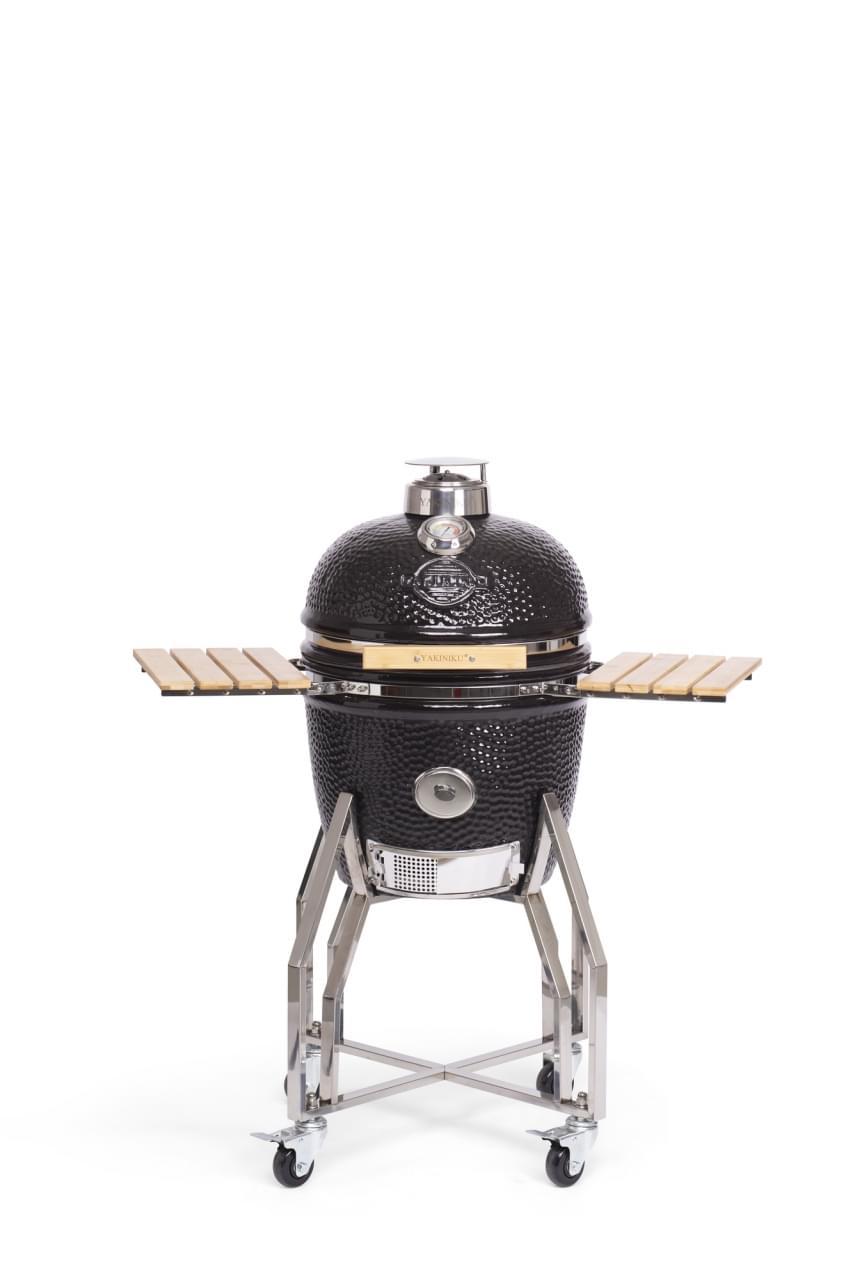 Yakiniku Medium Kamado Barbecue met onderstel en side tables