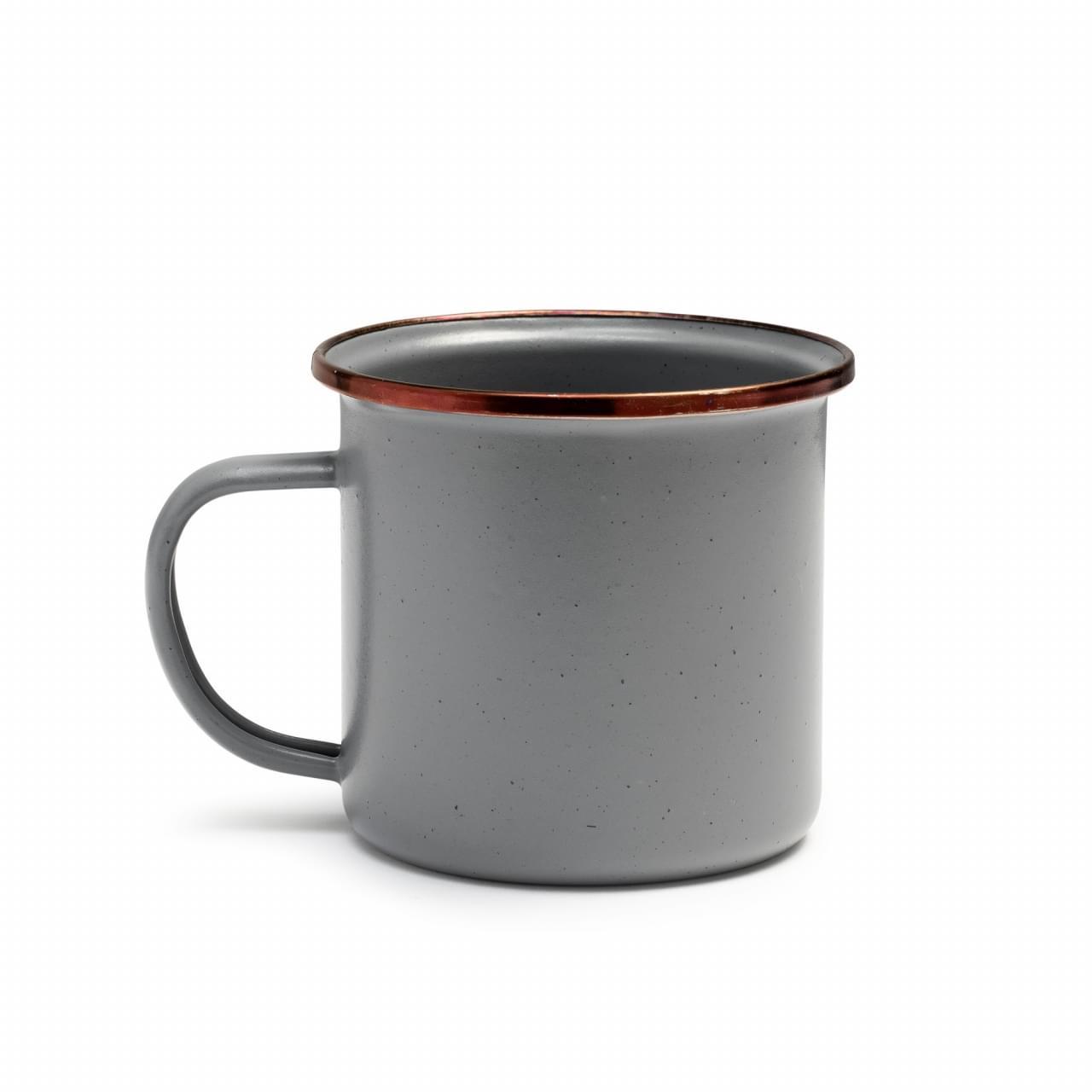 Barebones Barebones Enamel Espresso Kop per 2 St. Stone Gray
