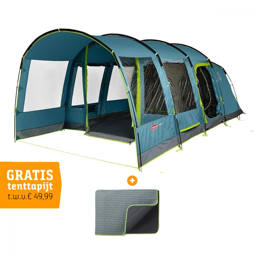 Coleman Aspen 4L - 4 Persoons Tent + GRATIS tapijt