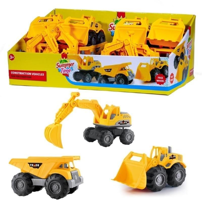 Summertime Construction Trucks 3 Assorti