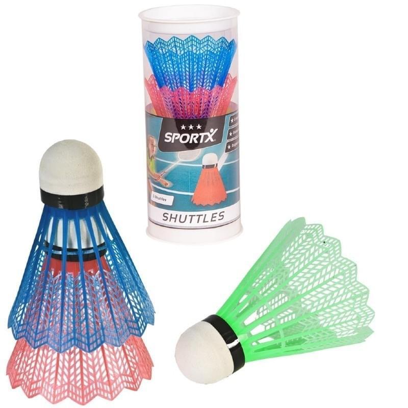Sportx Badminton Shuttles Gekleurd 3 stuks