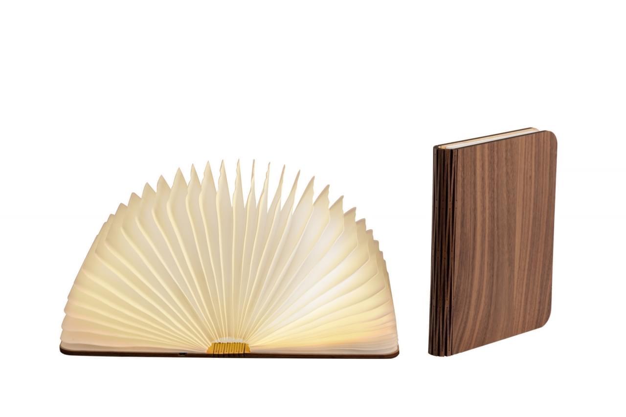 LEDR Boek Lamp Walnut Small