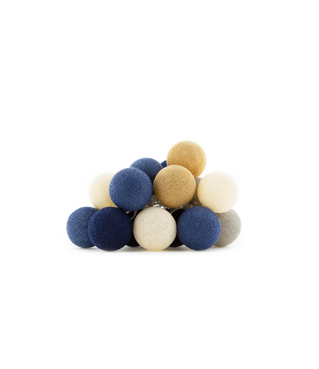 Cotton Ball Lights Indoor Glamping Lights Blauw
