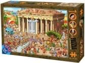 D-Toys Cartoon Puzzel Acropolis Athene 1000 Stukjes