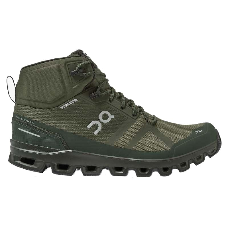 ON Cloudrock Waterproof Wandelschoen Heren Groen