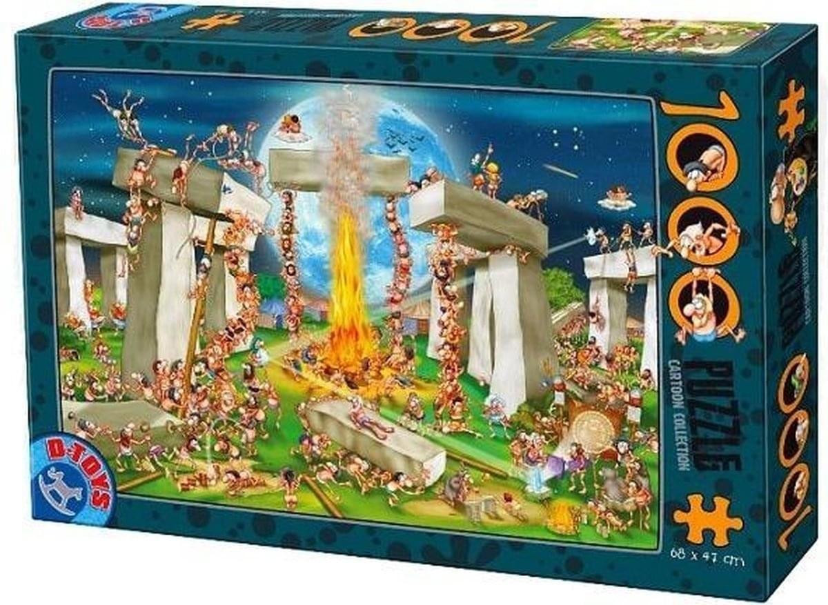 D-Toys Cartoon Puzzel Stonehenge 1000 stukjes