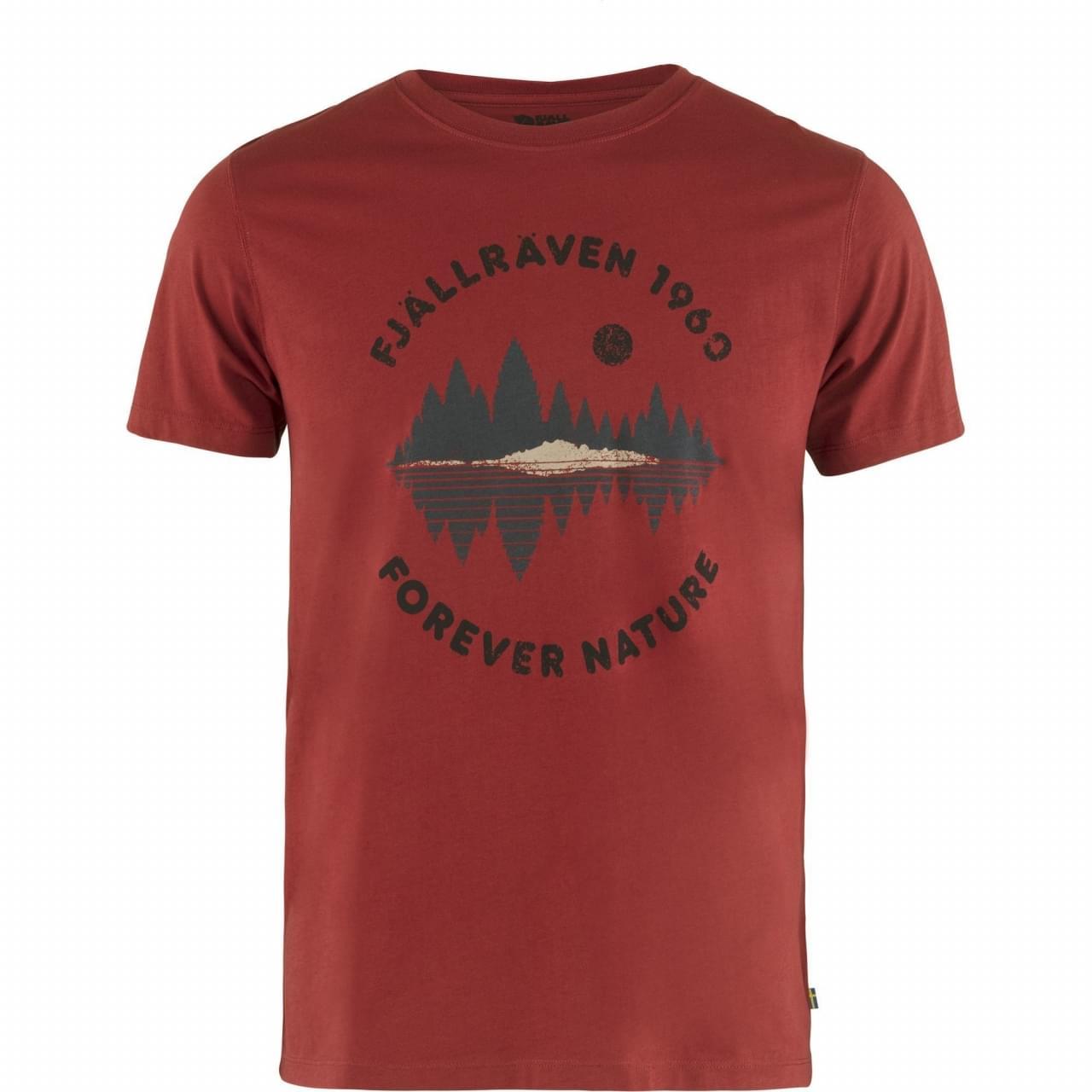 Fjallraven Forest Mirror T-shirt Heren Rood