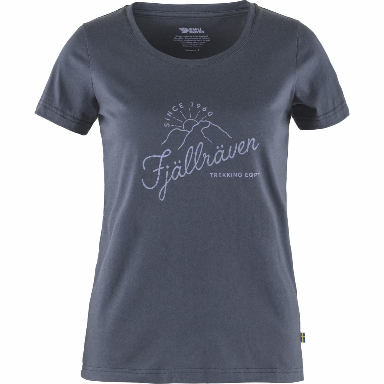 Fjallraven Sunrise T-shirt Dames Donkerblauw
