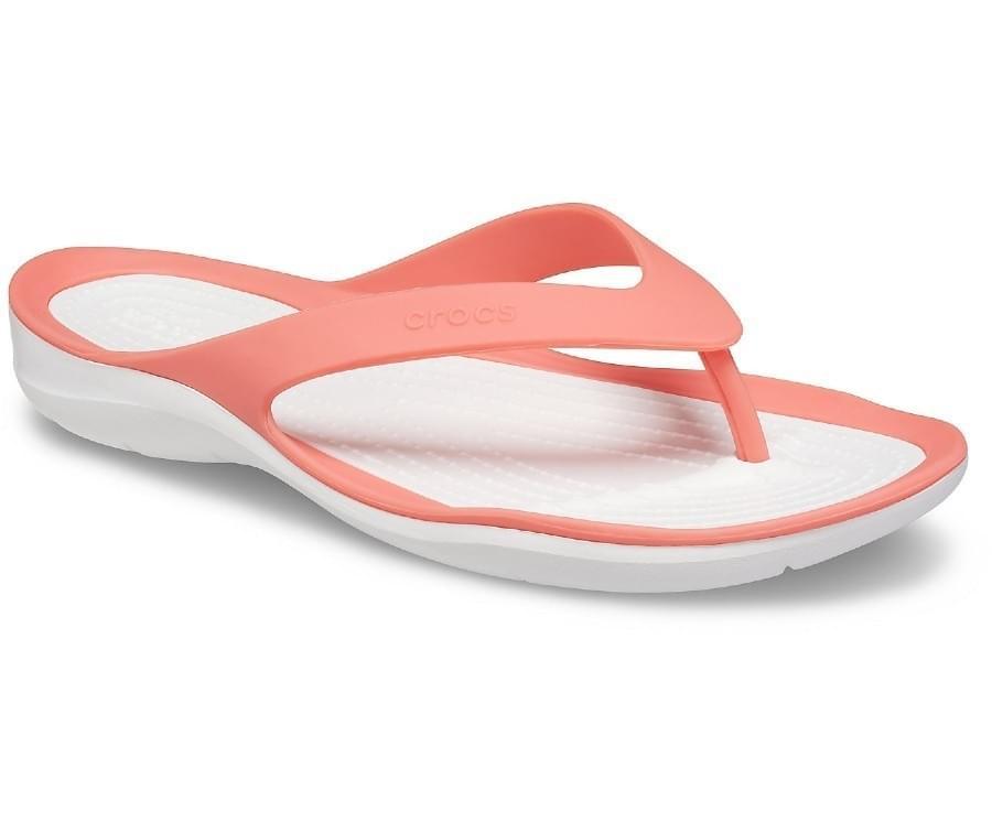 Crocs Swiftwater Flip Slipper Dames Oranje