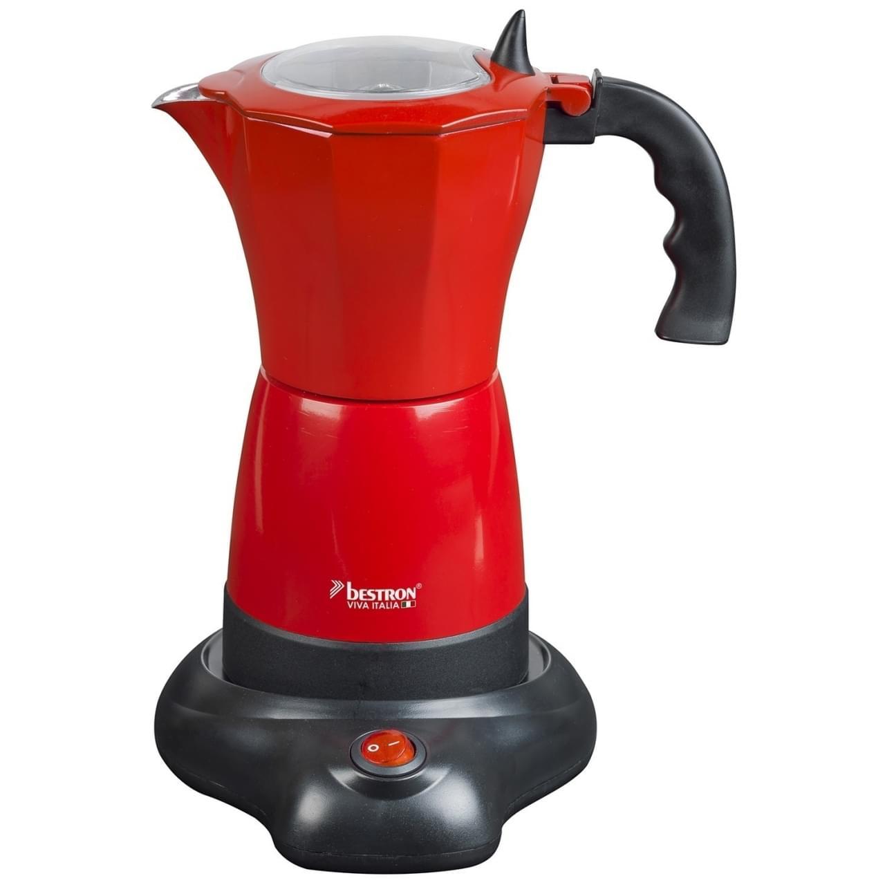 Bestron Elektrische espressomaker Rood