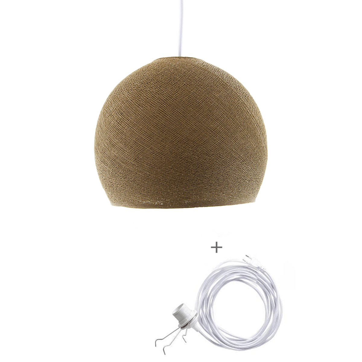 Cotton Ball Lights Wandering Lamp Three Quarter L Bruin