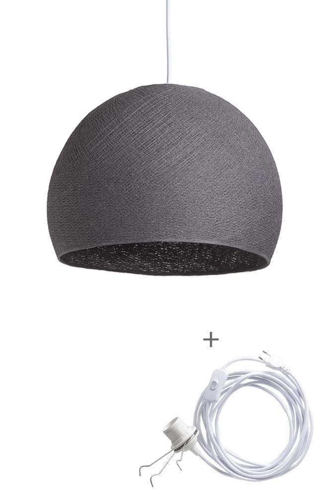 Cotton Ball Lights Wandering Lamp Three Quarter L Donkergrijs
