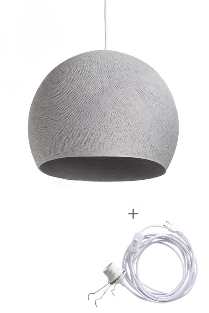 Cotton Ball Lights Wandering Lamp Three Quarter M Grijs