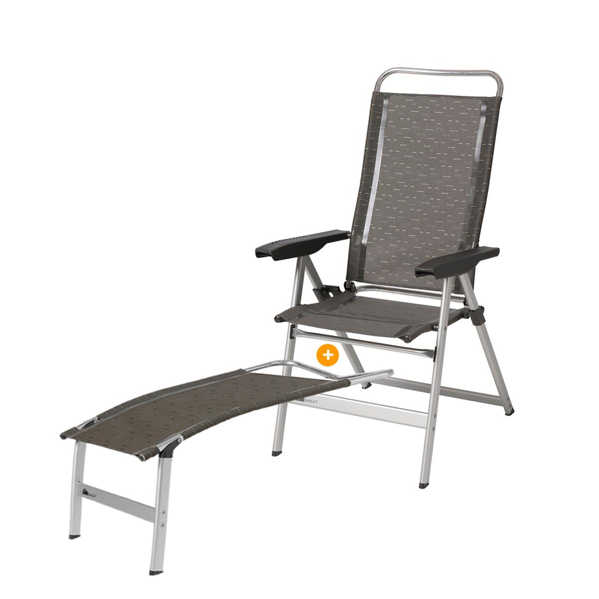 Dukdalf Dynamic Campingstoel + Voetenbank