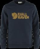 Fjallraven Logo Sweater Heren Donkerblauw