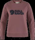 Fjallraven Logo Sweater Dames Rood